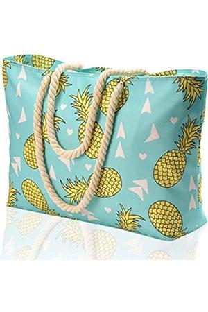 KUAK Strandtasche und Pooltasche, große wasserdichte Reißverschlusstaschen., (Ananas-a)