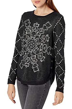 Desigual Womens JERS_Budapest Pullover Sweater, Black