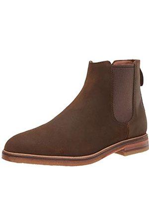 Clarks Men's Clarkdale Gobi Chelsea Boot, Dark Olive Suede