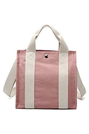 Jeelow Damen Handtaschen - Kleine Handtasche aus Segeltuch für Damen und Herren, Pink (rose)