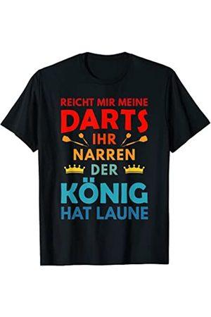 Dartspieler Dartfan Dartsliebhaber Dart Dartpfeile Darts Dart Dartspieler König hat Laune Dartsspieler Geschenk T-Shirt