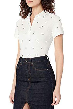 Nautica Damen Anchor Short Sleeve Breathable Stretch Cotton Polo Shirt Poloshirt