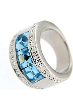 Jean Pierre Damen-Ring Messing rhodiniert blau Glas Gr. 66 (21.0) - HEJR1461-21 RH