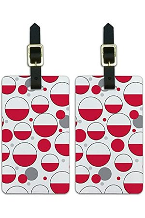 Graphics and More Graphics & More O-s-Polen Nationalflagge - Luggage.Tags.09665