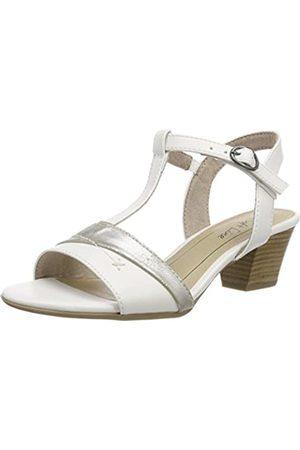 Softline Damen Sandalen - Damen 28360 T-Spangen sandalen, (white/silver)