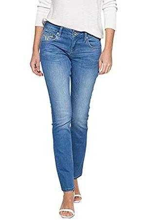 ATT Damen Slim Fit Jeans Mit Markanter Absteppung Auf Der Münztasche Straight Jeans Stella