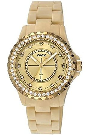 Watx Damen Uhren - Analog Quarz Uhr mit Plastik Armband RWA9018