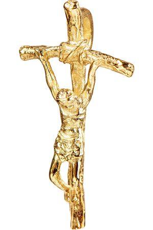 JEVELION Damen Anhänger - Kruzifix Kreuzanhänger vergoldet 925 Silberkreuz