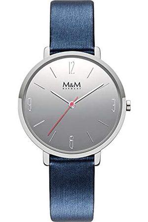 M&M Damen Uhren - DamenAnalogQuarzUhrmitLederArmbandM11939-843