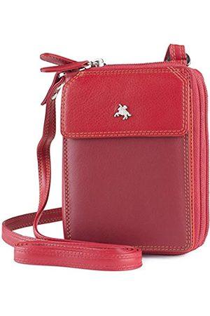 Visconti BRB15 Leder Geldbörse Schultergurt Mini Tasche Kartenhalter Wallet iPhone 5, ( /Mehrfarbig)