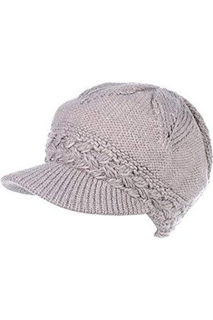 Be Your Own Style BYOS Damen Wintermütze mit Zopfmuster, warm mit Fleece gefüttert, gehäkelt, mit Visier