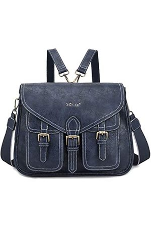 ZOCAI Damen Crossbody Geldbörse Rucksack wandelbar PU Leder Design Satchel Bag