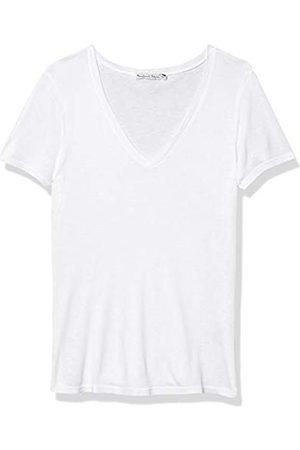 MICHAEL STARS Damen Nia 1x1 Slub Short Sleeve V-Neck Tee T-Shirt