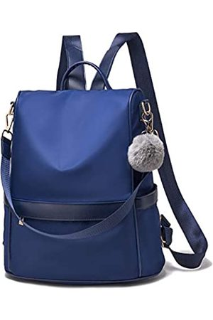Cheruty Women Backpack Purse Nylon Anti-theft Fashion Casual Lightweight Travel School Shoulder Bag(NavyBlue large)