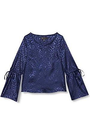 Mela Damen Animal Print Drawstring Sleeve Blouse Bluse
