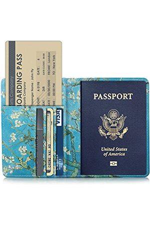 AIJAKO Ajako Reisepasshülle mit Kartenfächern – PU-Leder Reise-Hülle für Reisepass