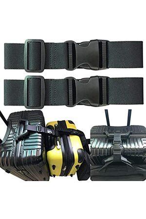 monochef 2 Stück Zwei zusätzliche Tasche Gepäck Set Gurt Reisekoffer Koffer Verstellbarer Gürtel Reisezubehör Reise-Befestigung – Verbinden Sie Ihre 3 Gepäckstücke
