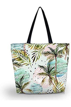zadanle Einkaufstasche für Reisen, Strand, Einkaufstasche, mit Reißverschluss, für Damen, faltbar, wasserdicht, für die Nacht, ( 2)
