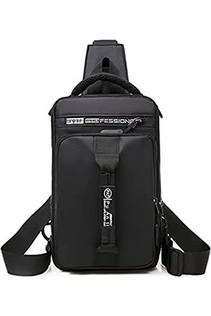 HANDAFA Unisex Praktischer Sling Rucksack Casual Messenger Daypack Mehrzweck-Rucksack mit USB - - Einheitsgröße