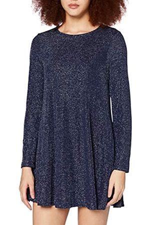 Mela Damen London-Shimmer Long Sleeve Tunic Dress Lssiges Kleid