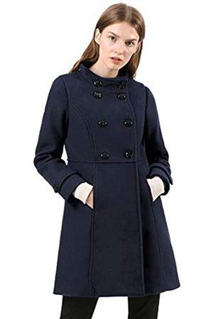 Allegra K Damen A Linie Stehkragen Knopfleiste Trenchcoat Mantel M