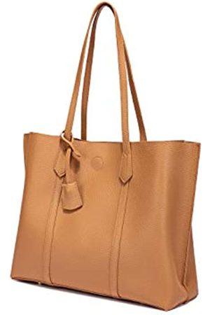 FashionCorps Damen-Handtasche mit Tragegriff und Quaste, aus PU-Leder, mit Quaste, große Kapazität