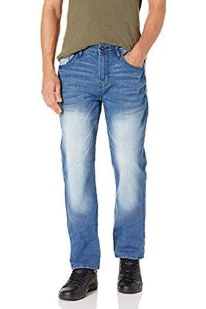 WT02 Herren Clean Washed Basic Stretch Denim Pants Jeans