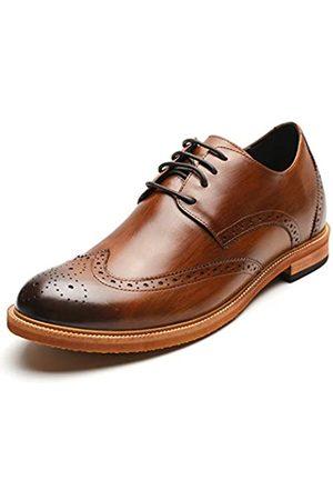 CHAMARIPA Herren unsichtbare Höhensteiger-Schuhe aus echtem Leder, Brogue-Schuhe, 6,4 cm größer DX60B06-1