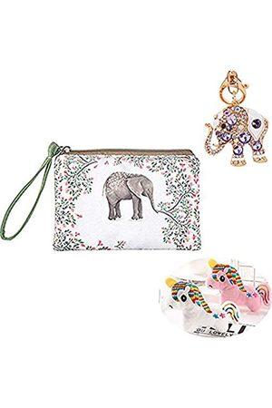 SMART DK Elefant Schlüsselanhänger funkelnder Schlüsselanhänger Kristall Geldbörse Anhänger Strass Handtasche Charm - Gr�n - Medium