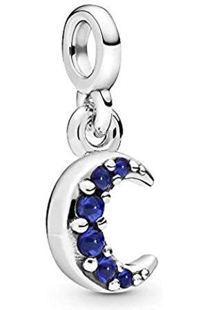 PANDORA Crescent moon dangle charm with true blue crystal