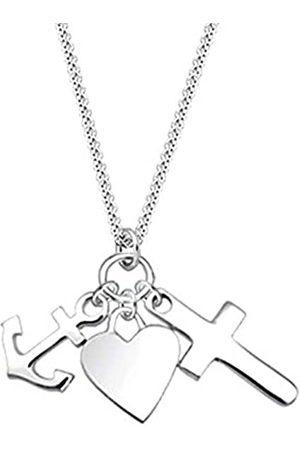 Elli Halskette Damen Kreuz Herz Anker Anhänger Modern aus 925 Sterling