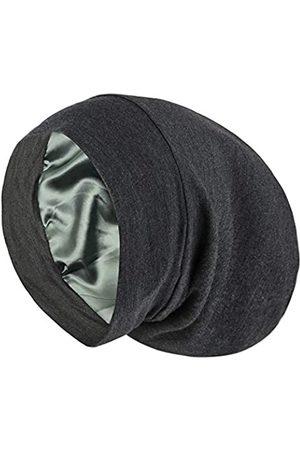 ALEXANDER PRODUCTS Satin gefütterte Schlafmütze verstellbare Haube Slouchy Beanie natürliches lockiges Haar Damen - - Large