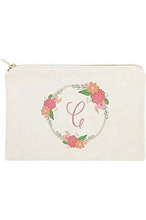The Cotton & Canvas Co. Theotton &anvaso. Personalisierte farbige Monogramm-Kosmetiktasche und Reise-Make-up-Tasche