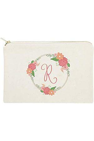 The Cotton & Canvas Co. Personalisierte farbige Monogramm-Kosmetiktasche undeise-Make-up-Tasche