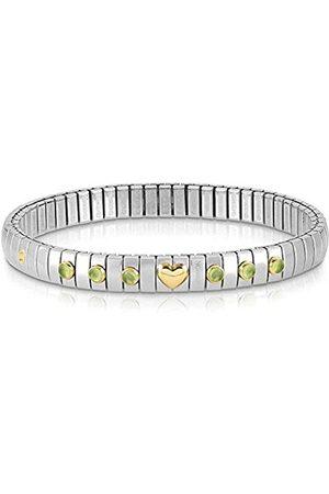 Nomination Damen-Armband Edelstahl Peridot grün 21 cm - 044609/016