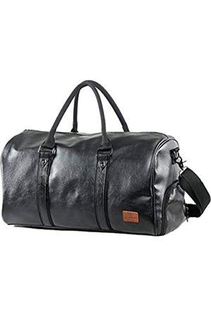 Mioy Großräumige Vintage Leder Herren Handgepäck Sporttasche Overnight Duffel Bag Damen Reisetasche für Wochenend Urlaub