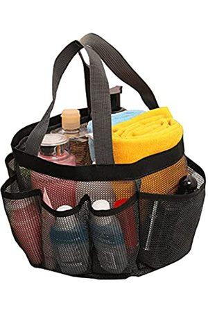 Huaxiangoh Mesh Strandtasche 8 Taschen Aufbewahrungstasche Tragbare Mesh Strandtasche Baden Schwimmen Fitness Badetasche für Damen und Herren