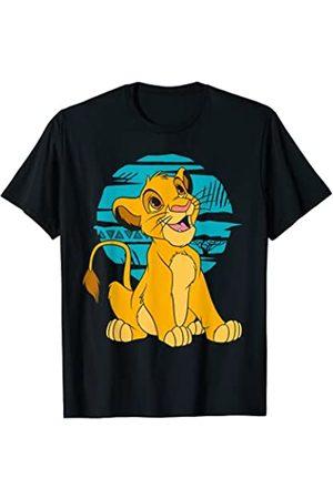 Disney The Lion King Young Simba Happy Blue Retro T-Shirt