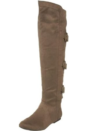 Not Rated Damen Overknee-Stiefel, (Taupe)
