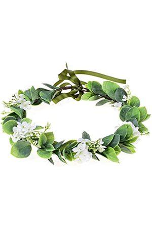 Love Sweety Eukalyptus-Stirnband mit Blume, für Hochzeiten