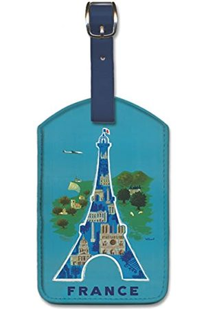 Pacifica Island Art Leatherette Luggage Baggage Tag - France by Bernard Villemot