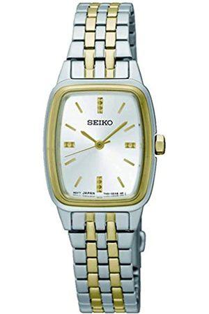 Seiko Damen Uhren - Damen Analog Quartz Uhr mit Edelstahl Armband SRZ472P1