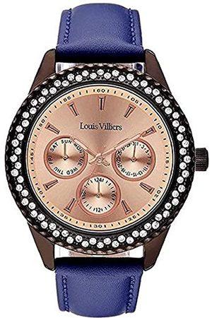 Louis Villiers Damen Uhren - LouisVilliersUnisexAnalogQuarzUhrmitLederArmbandLV2081