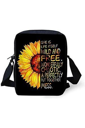 Babrukda Crossbody Handtasche, kleine Schultertasche für Kinder, Damen, Herren, Kuriertasche, Gelb (Trendige Sonnenblume)