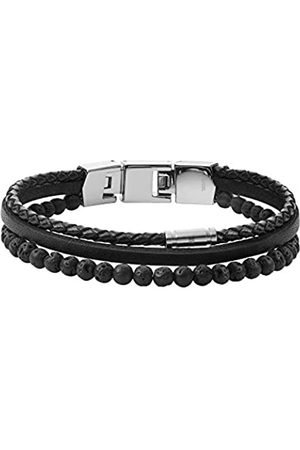 Fossil Herren Armband Cool Tones mehrsträngig Lava Bead schwarz