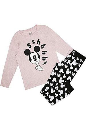 Disney Damen Mickey Mouse Shhh Pyjama Set Pyjamaset