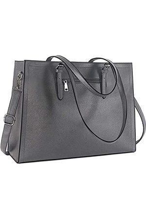 SOAEON Laptoptasche für Damen 15,6 Zoll Leder Computer Taschen Tote Bag Büro Arbeitstasche