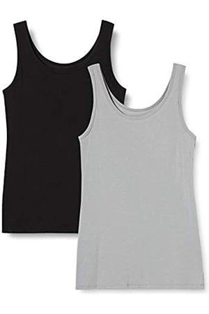 IRIS & LILLY Damen Unterhemd aus Baumwolle, 2er-Pack, Mehrfarbig ( / ), XS