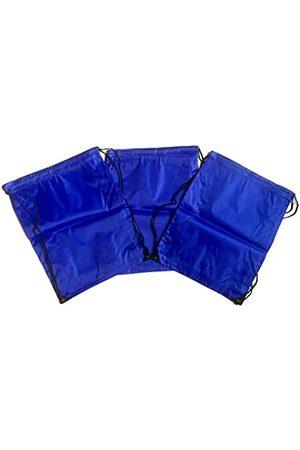 TheAwristocrat 3 Stück Nylon Kordelzug Rucksäcke Sackpack Tote Cinch Gym Bag – verschiedene Farben - TA-DSB-BLU-R-CA