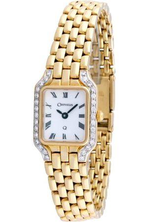 ORPHELIA Damen Uhren - Damen-Armbanduhr 18 Karat 750 Gelbgold & Diamond 41.8 Gramm mon-7027